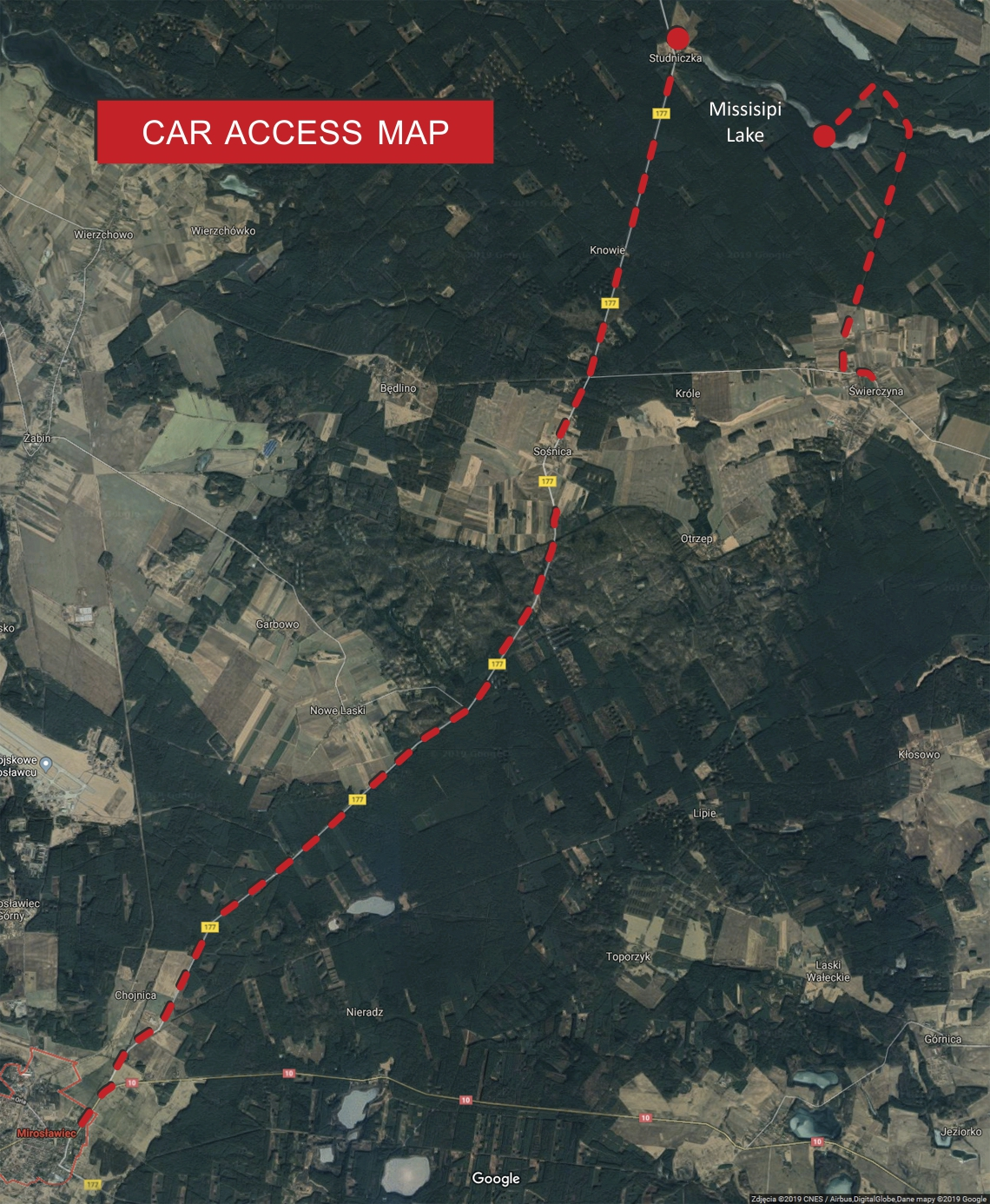 Missisipi car access map